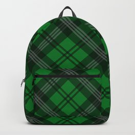 Scottish Plaid-Green Backpack