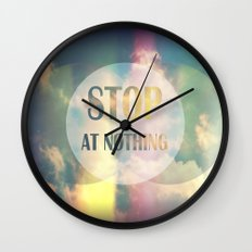 Stop At Nothing Wall Clock