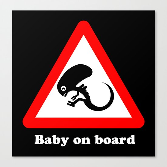 Baby on board Canvas Print