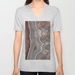 Striped Agate Crystal Unisex V-Neck