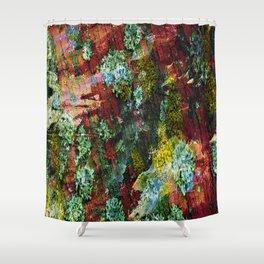 texture paint peeling weathered Shower Curtain