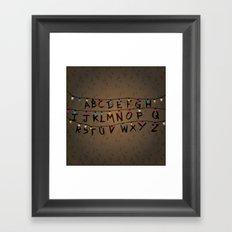 Stranger things ABC Framed Art Print