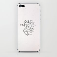 SHE WILL NOT FALL iPhone & iPod Skin