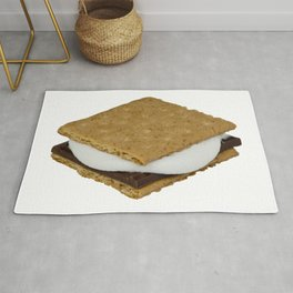 S'mores - marshmallows, chocolate and crackers Rug