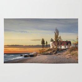Point Betsie Lighthouse at Sunset Rug