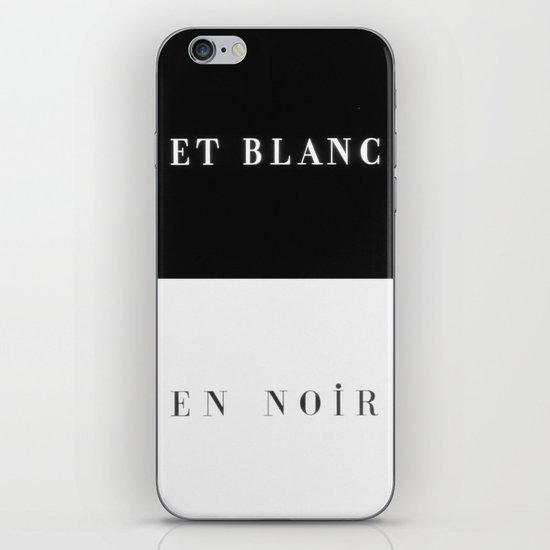 Et Blanc En Noir iPhone & iPod Skin