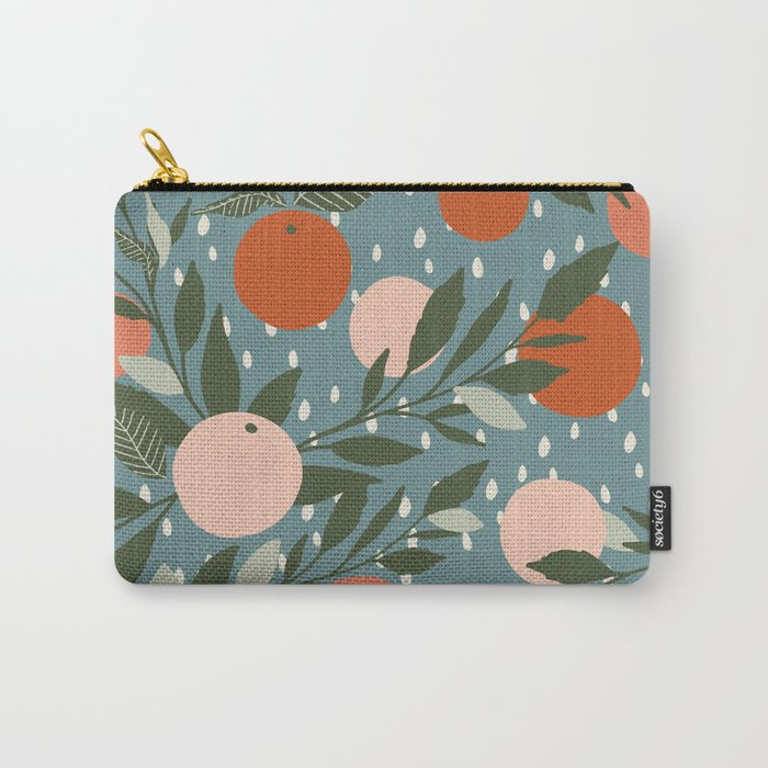 Indy Bloom Tangerine Rain Carry-All Pouch