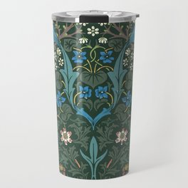 William Morris Blackthorn Wallpaper Block Print Pattern, 1892 Travel Mug