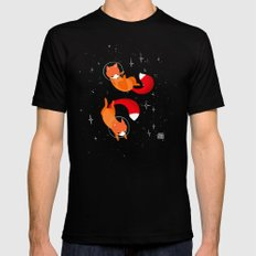 Space Foxes MEDIUM Black Mens Fitted Tee