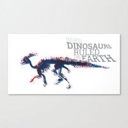 When Dinosaurs Ruled The Earth - Parasaurolophus Canvas Print