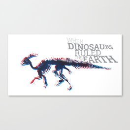 When Dinosaurs Ruled The Earth - Parasaurolophus Canvas Print