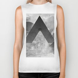 shapes in black and white Biker Tank