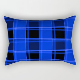 Bright intersections of light and nautical lines on a dark background. Rectangular Pillow