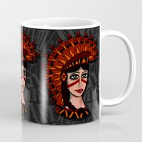 native Mugs featuring Native by caffeboy
