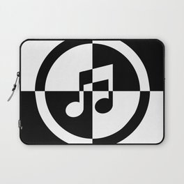 Black and White Music Note Laptop Sleeve