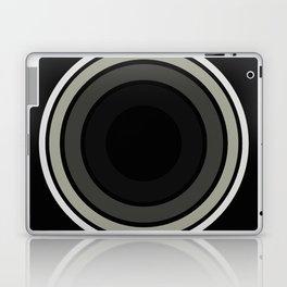 Into The Black - Abstract, black and white, minimalistic, geometric artwork Laptop & iPad Skin