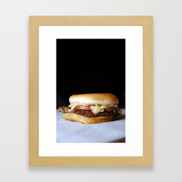 Burger 1 Framed Art Print