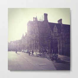OXFORD CITY STREET Metal Print