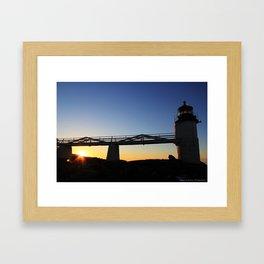 Marshall Point Sunrise Framed Art Print