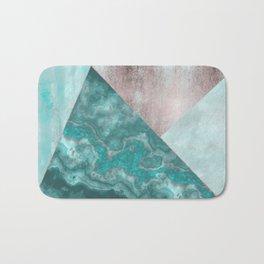 Gemstone And Geode Triangles Bath Mat