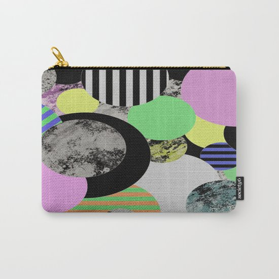 Cluttered Circles - Abstract, Geometric, Pop Art Style Carry-All Pouch