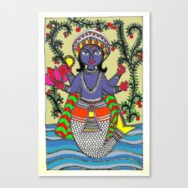 Matsya Avatar of the Hindu God Vishnu Canvas Print