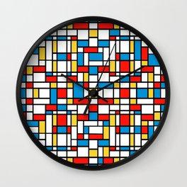 Mondrian design, abstract pattern Wall Clock