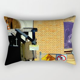 Caution - Security Notice - Sound Horn Rectangular Pillow