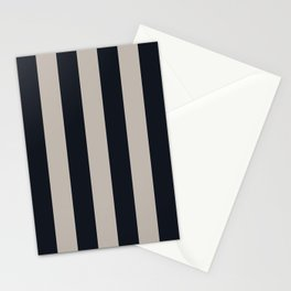 Vertical Stripes Black & Warm Gray Stationery Cards