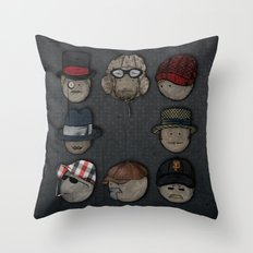 You like hats? I'm mad about hats! Throw Pillow