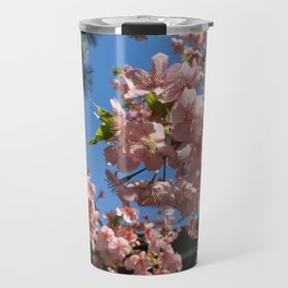 Pink Cherry Blossoms Travel Mug