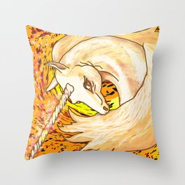 Otherworld Unicorns 6: Autumn Ether Throw Pillow