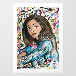 Nail Polish Paintng of Rowan Blanchard Art Print