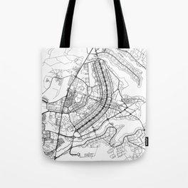 Brasilia Map White Tote Bag