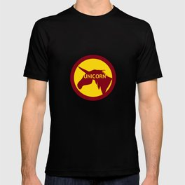 unicorn traffic sign  T-shirt