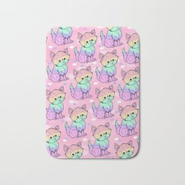 Rainbow Cats Bath Mat