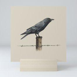 Country Crow - colour option Mini Art Print