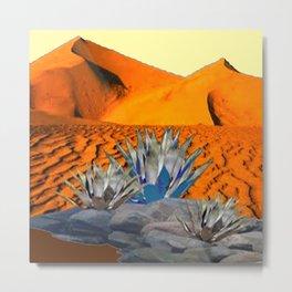 BLUE AGAVE DESERT LANDSCAPE CACTUS ART Metal Print