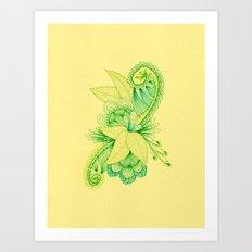 Green Arabesque Art Print