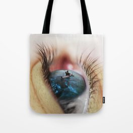 An ocean into your eyes Tote Bag
