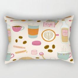 Drawing Coffee in a Café Rectangular Pillow