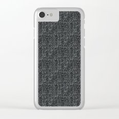 Day 070 | #margotsdailypattern Clear iPhone Case