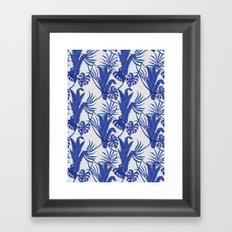 Jungle pattern Framed Art Print