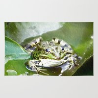 frog Area & Throw Rugs featuring frog by Karl-Heinz Lüpke