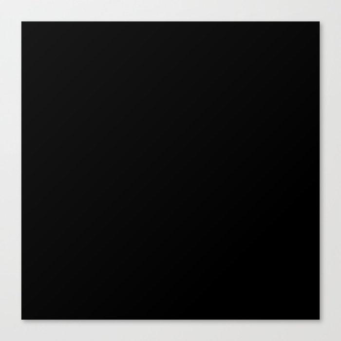 Simply Midnight Black Canvas Print