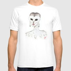 The Masquerade: The Owl Mens Fitted Tee White MEDIUM