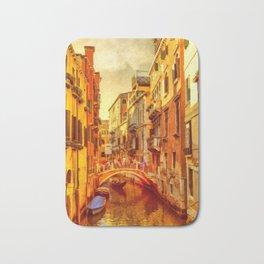 Golden Venice Canal Bath Mat