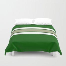 TEAM COLORS 2...GREEN,TAN Duvet Cover