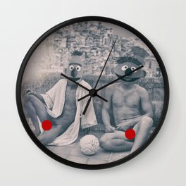 ernie & bert holiday Wall Clock