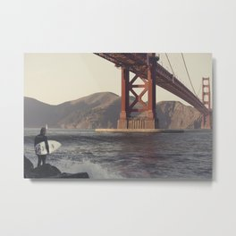 San Francisco Surfer Metal Print